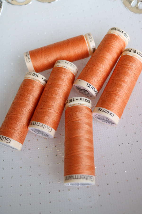 Apricot Gutermann Sew All Polyester Thread- 100M