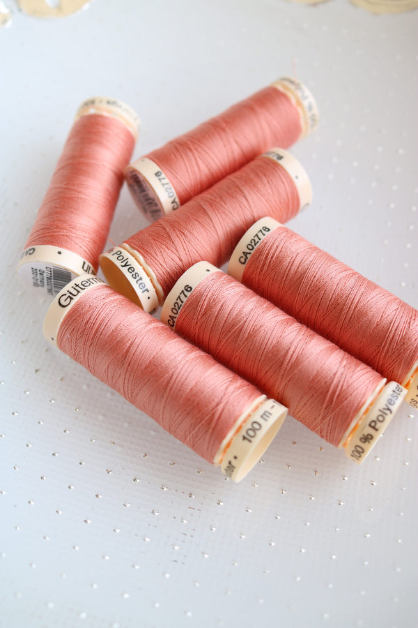 Dark Peach Gutermann Sew All Polyester Thread- 100M