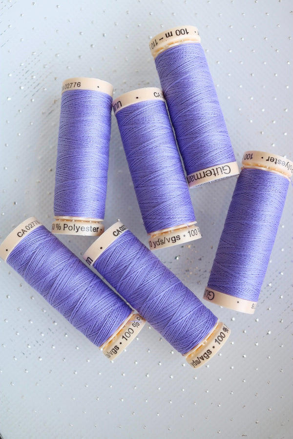 Periwinkle Gutermann Sew All Polyester Thread- 100M