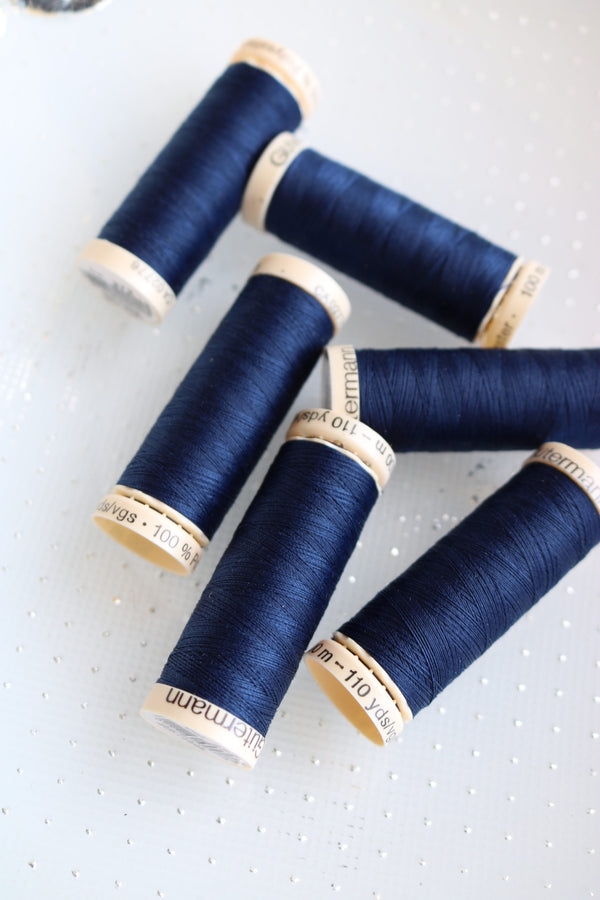 Navy Gutermann Sew All Polyester Thread- 100M