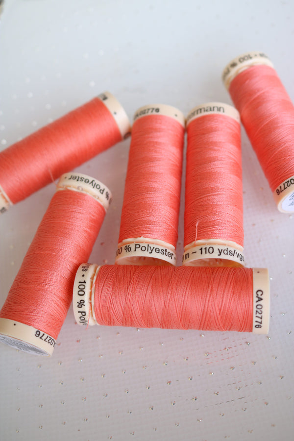 Light Coral Gutermann Sew All Polyester Thread- 100M