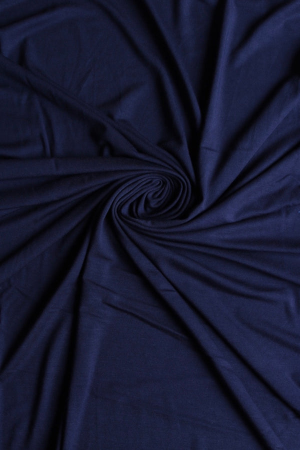 Dark Night Navy Bamboo Spandex