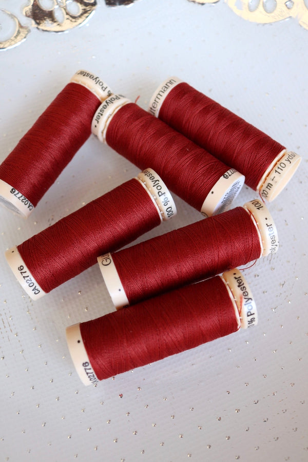 Rust Gutermann Sew All Polyester Thread- 100M
