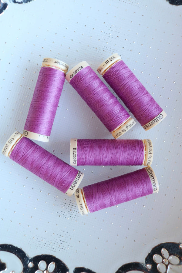Lilac Gutermann Sew All Polyester Thread- 100M