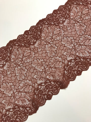 "Copper 9"" Wide Stretch Lace"