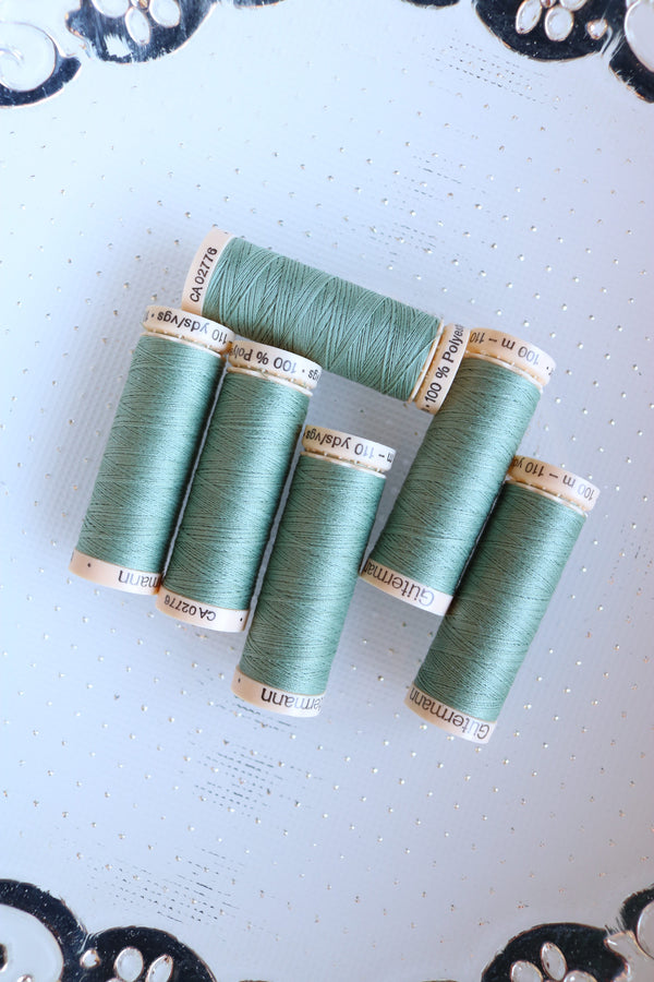 Verde Green Gutermann Sew All Polyester Thread- 100M
