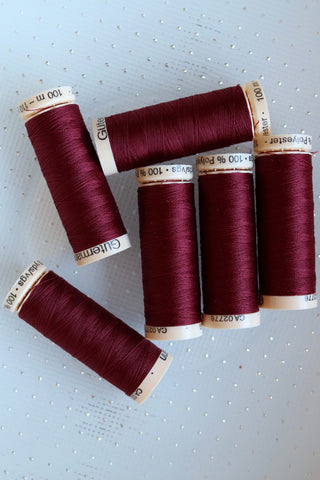 Maroon Gutermann Sew All Polyester Thread- 100M