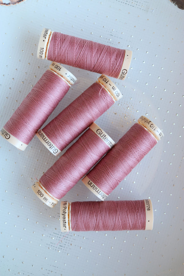Old Rose Gutermann Sew All Polyester Thread- 100M