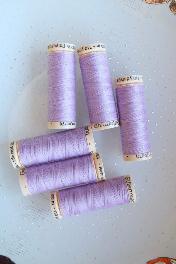 Light Lilac Gutermann Sew All Polyester Thread- 100M