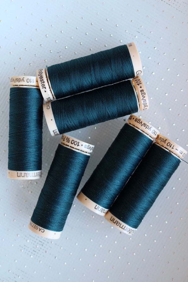 Deep Teal Gutermann Sew All Polyester Thread- 100M