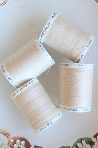 Eggshell Gutermann Sew All Polyester Thread- 1,000M