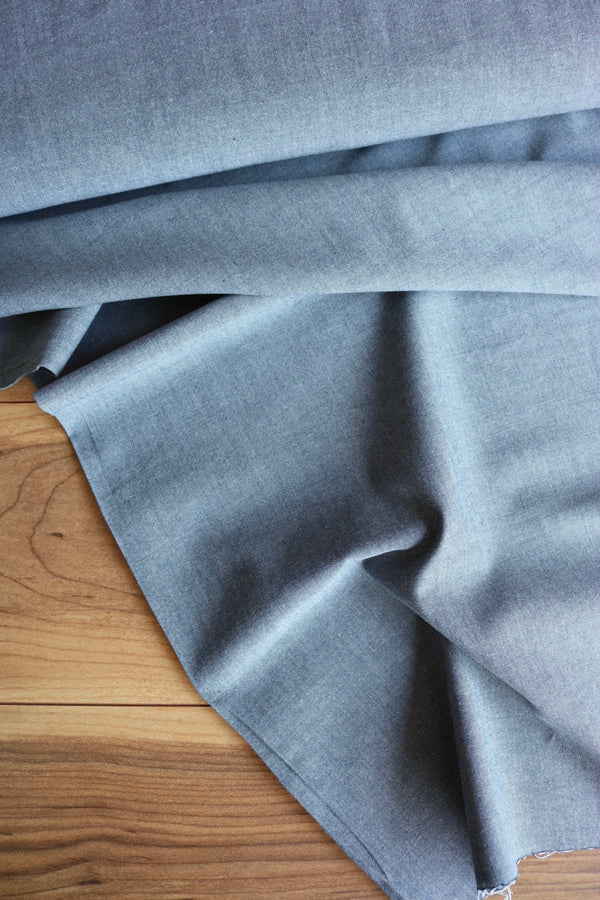 Robert Kaufman Light Indigo Chambray Union