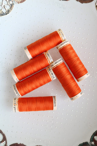 Orange Gutermann Sew All Polyester Thread- 100M
