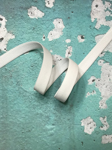 "White 3/4"" Plush Elastic"