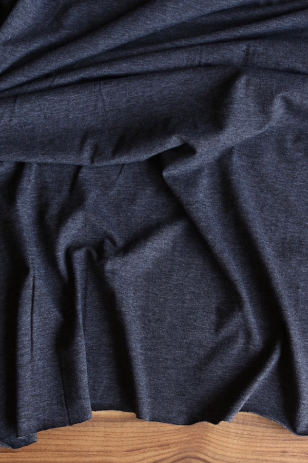Charcoal 2 Tone 10oz Cotton Spandex Jersey