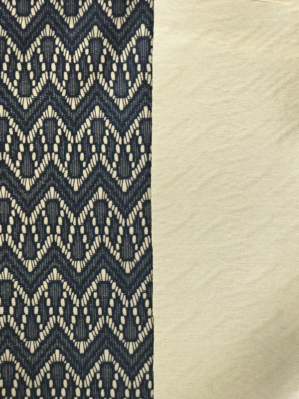 Navy/Stone Bonded Lace