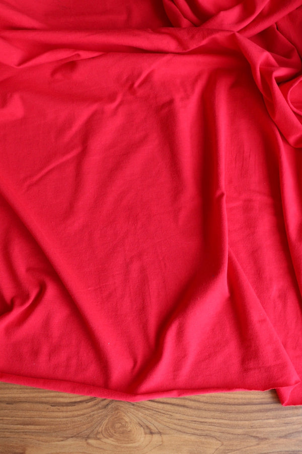 Red 10oz Cotton Spandex Jersey