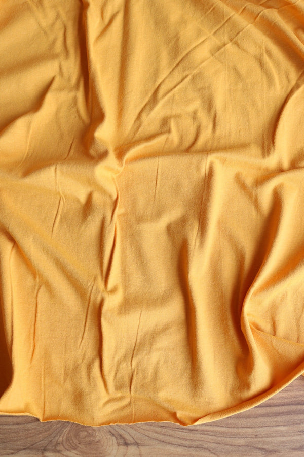 Light Mustard 10oz Cotton Spandex Jersey