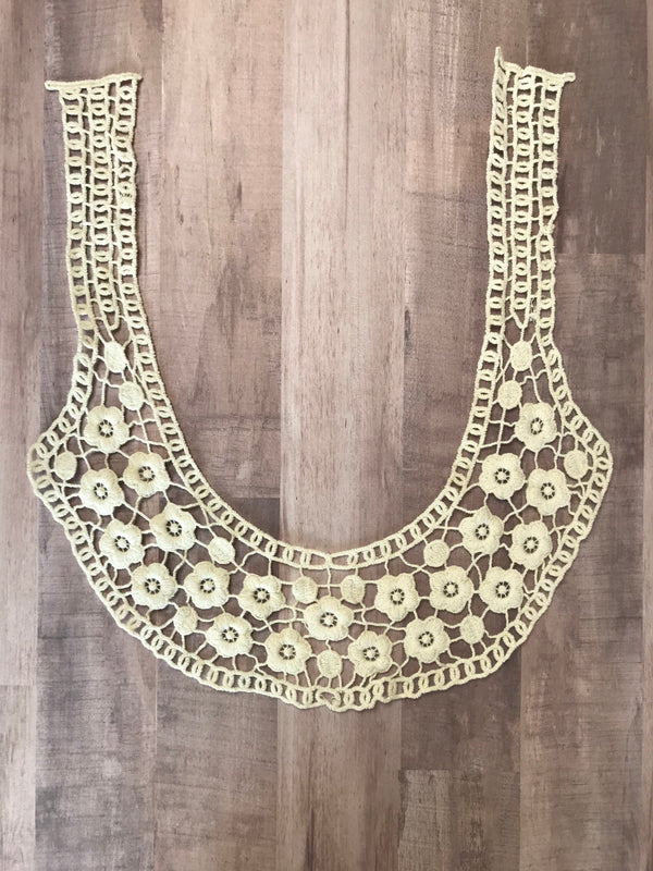 Beige Collar Applique