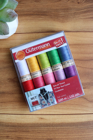 Spring Sew All Polyester Thread 10 Spool Set