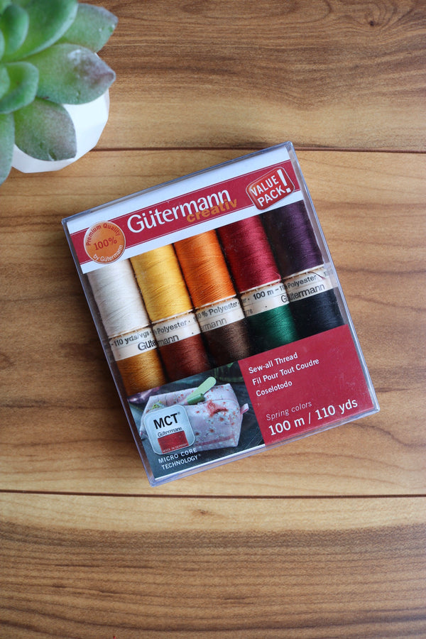 Fall Sew All Polyester Thread 10 Spool Set