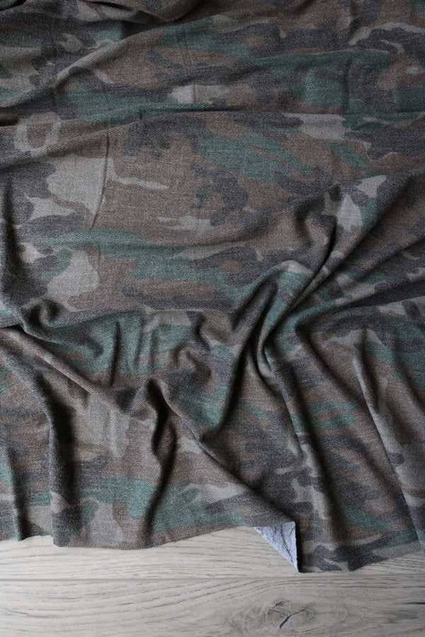 Dark Camo  Reverse French Terry