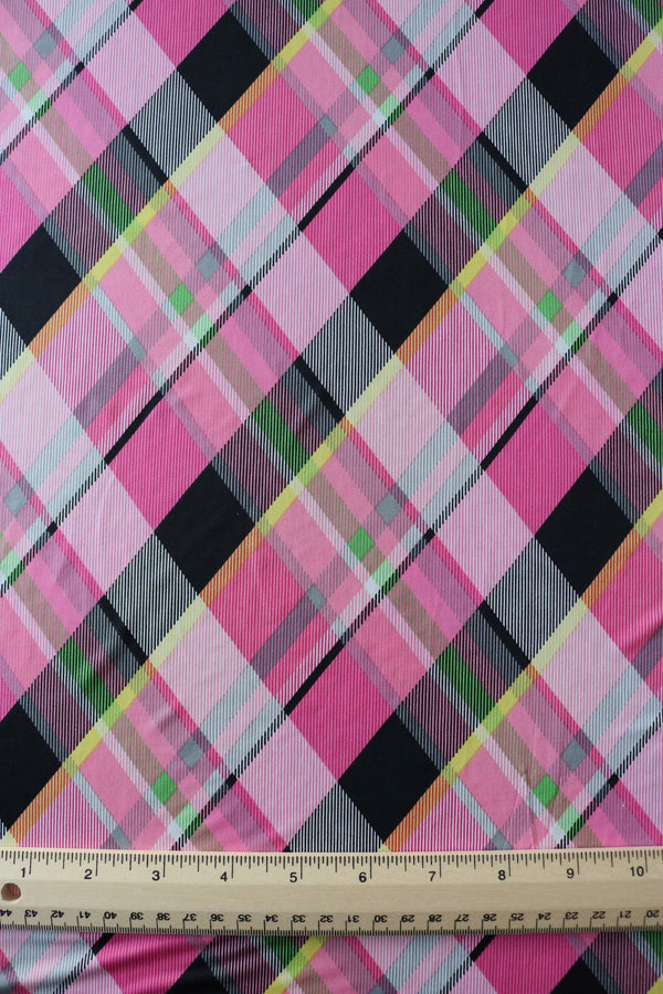 Pink Diagonal Plaid ITY