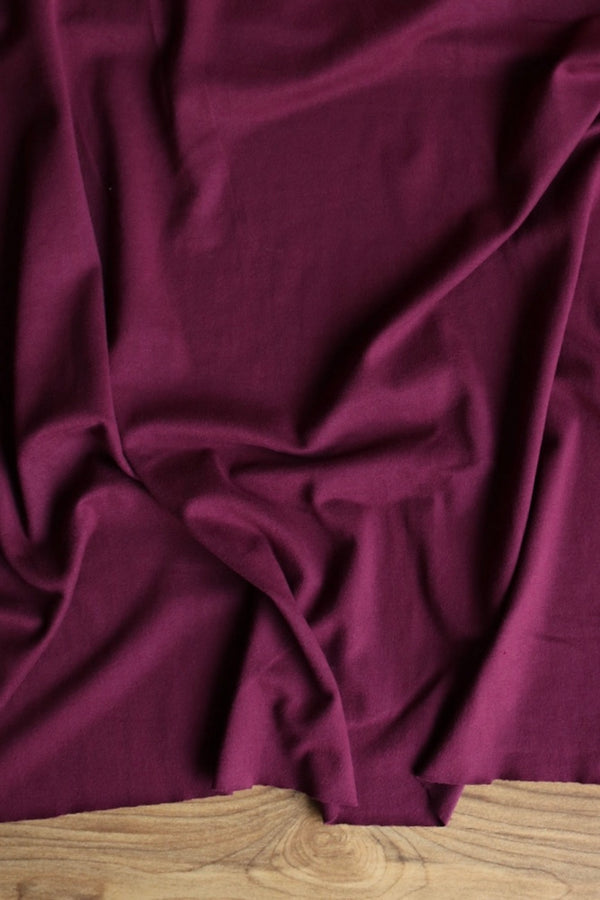 Burgundy Double Brushed Poly