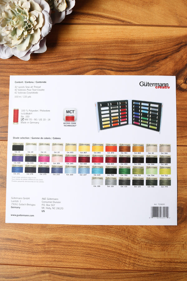 Gutermann Thread Notebook; 42 Spool Set