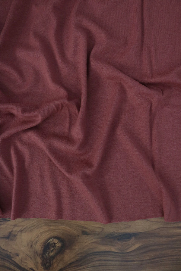 Dark Mauve Berlin Brushed Hacci Sweater Knit