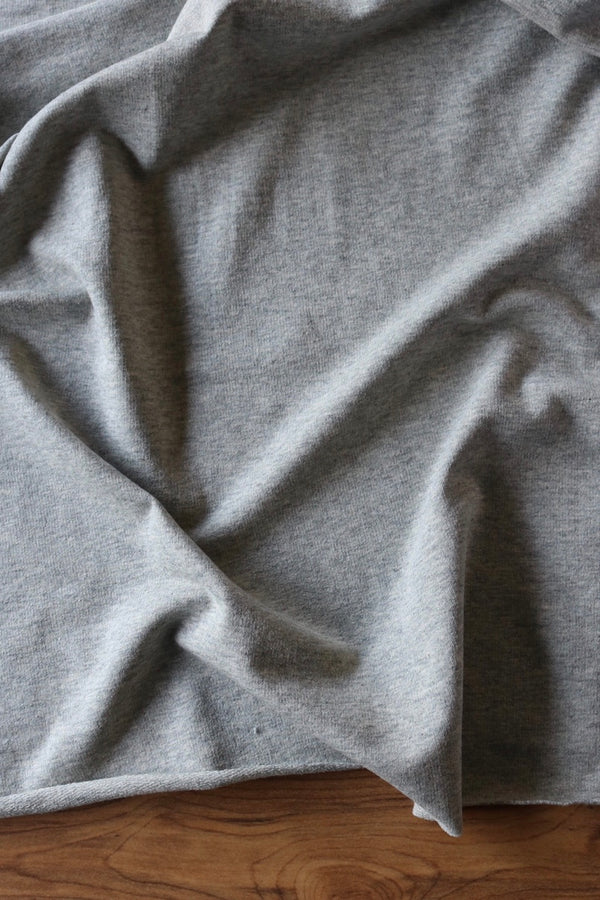 Heather Gray Cotton Spandex French Terry