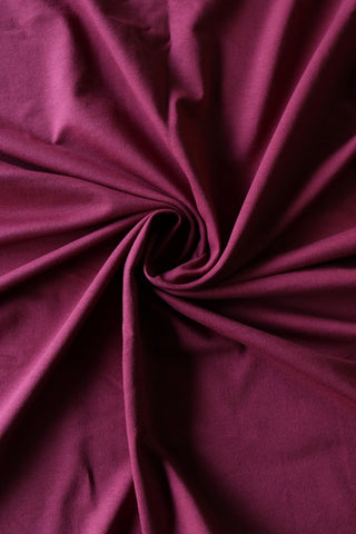 Burgundy Cotton Spandex French Terry