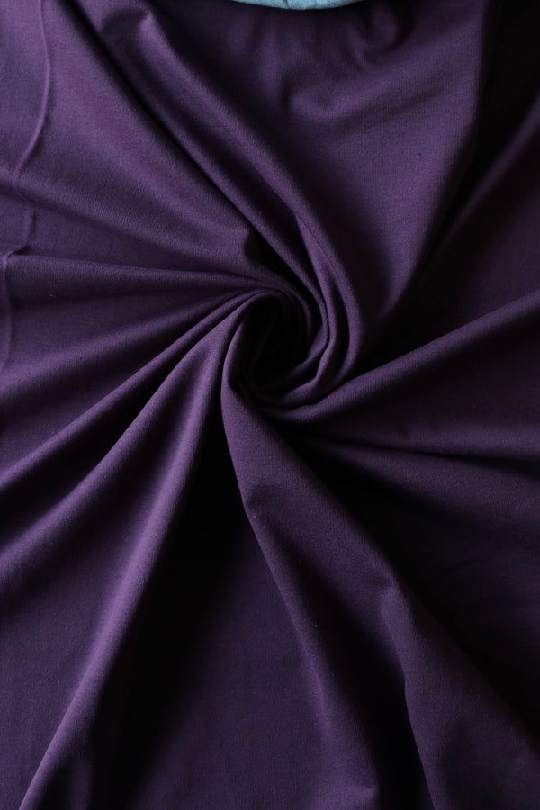 Plum Cotton Spandex French Terry
