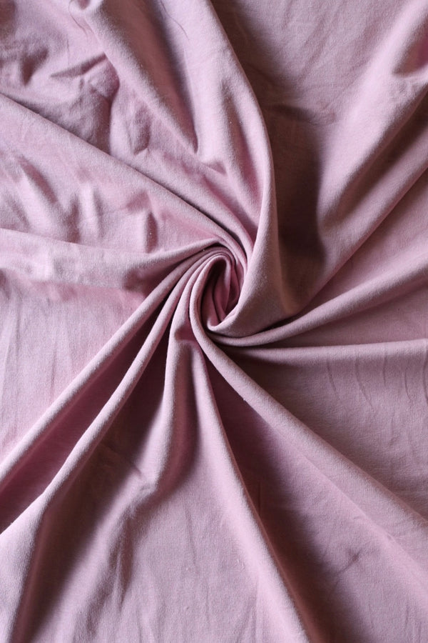 Mauve Cotton Spandex French Terry