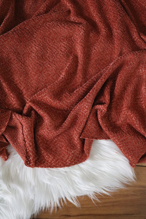 Strawberry Wine Hanfleur Chenille Sweater Knit