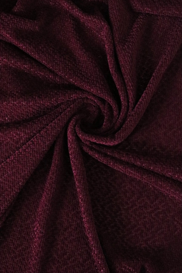 Burgandy Hanfleur Chenille Sweater Knit