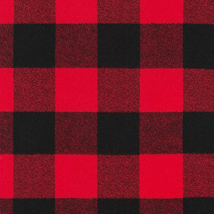 Red/Black Buffalo Check Robert Kaufman Mammoth Flannel