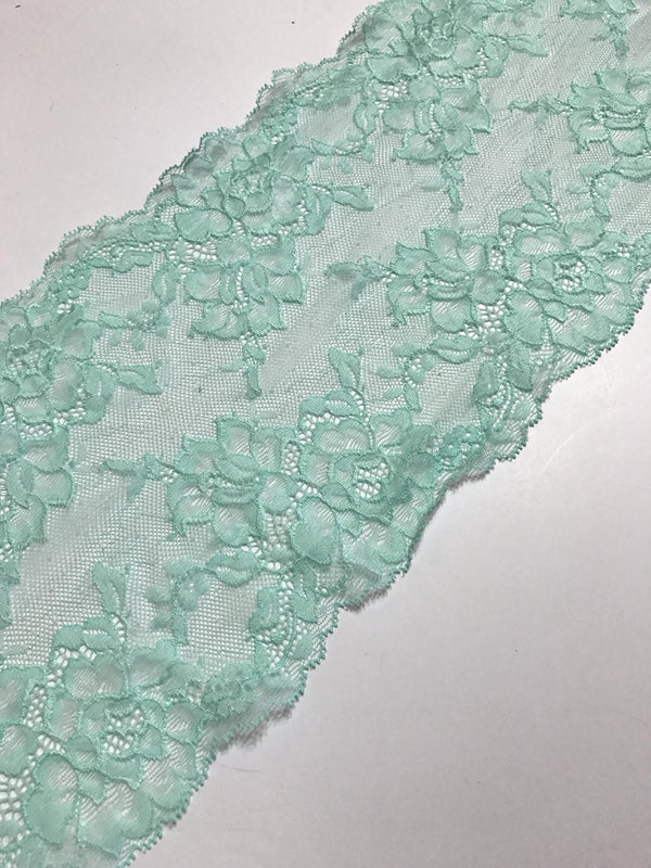 "Mint 6.5"" Wide Stretch Lace"