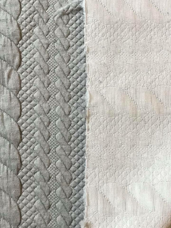 Gray Cables Quilted Knit
