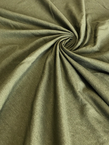 Olive Cotton Spandex French Terry