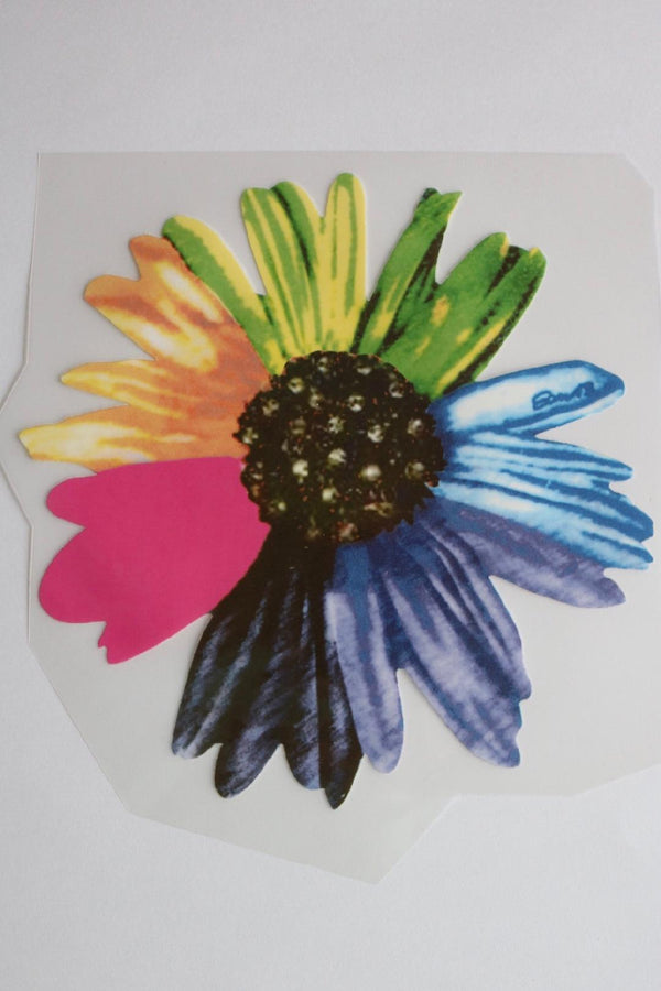 Rainbow Daisy Heat Transfer, Iron-On
