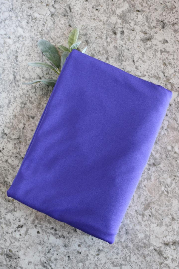 Blue Violet Brushed Athletic Poly/Lycra