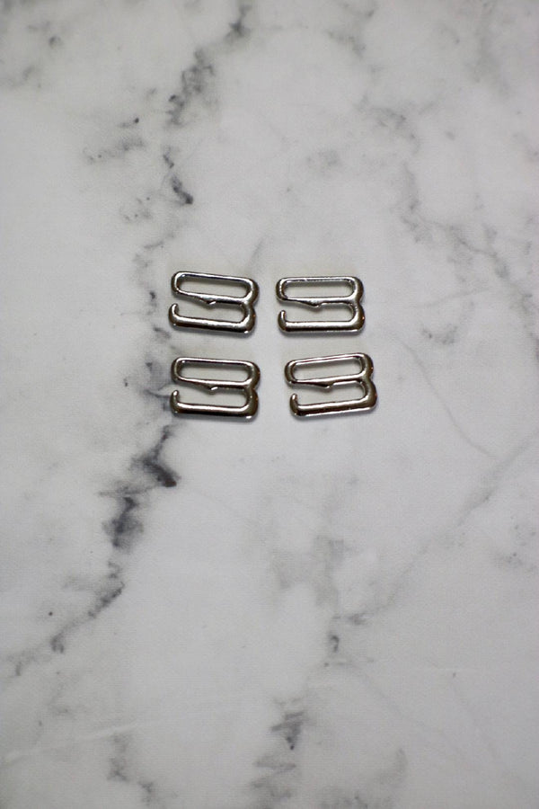 "Set of 4 Silver 3/8"" (10mm) G-Hooks"