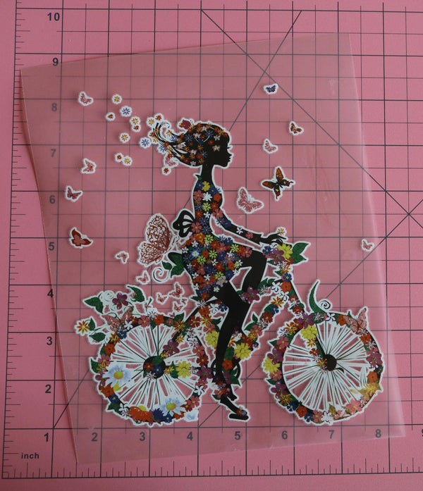 Beautiful Bike Ride Heat Transfer, Iron-On
