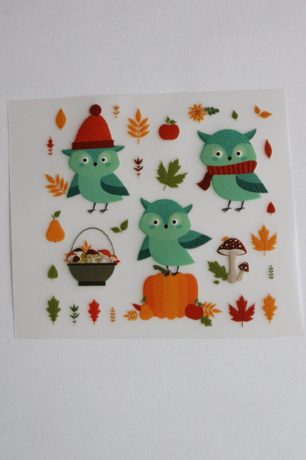 Harvest Hoots Heat Transfer, Iron-On
