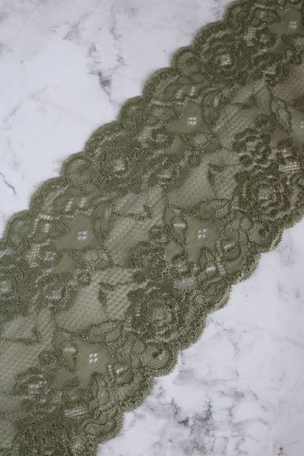 "Moss 5.5"" Wide Stretch Lace"