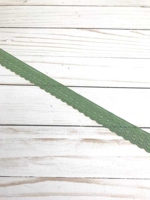 "Olive 1"" Wide Stretch Lace"