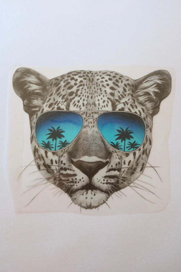 Beachy Cheetah Heat Transfer, Iron-On