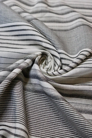 Black & Ivory Viscose Stripe