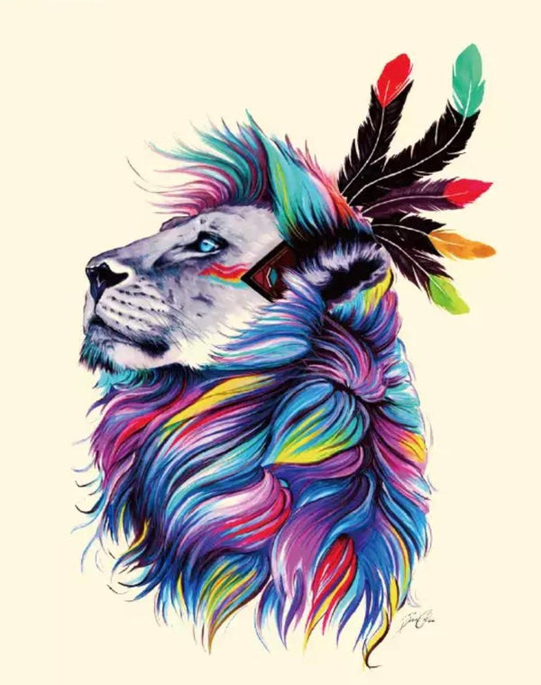 Majestic Lion Heat Transfer, Iron-On